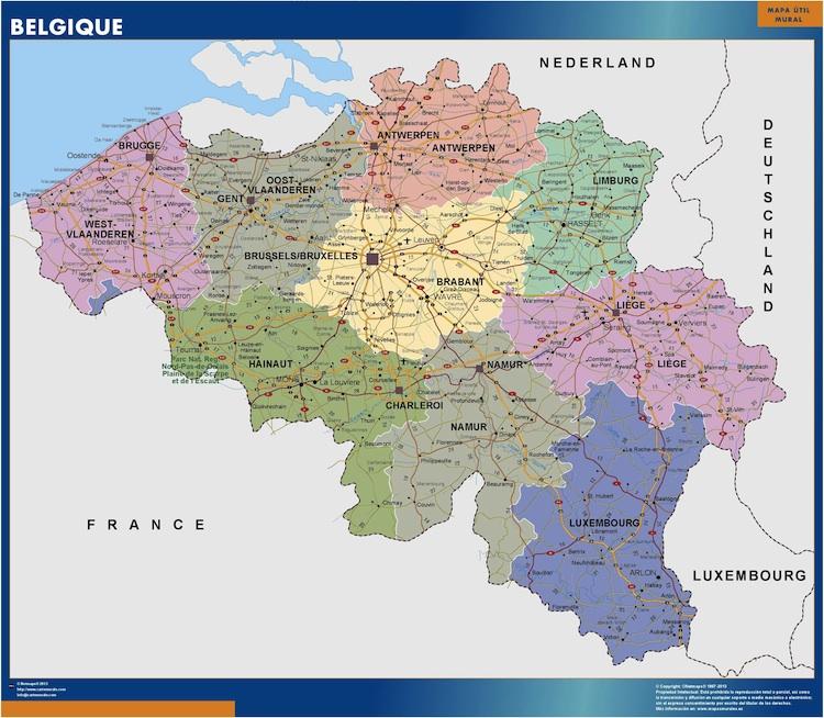 cartes belgique