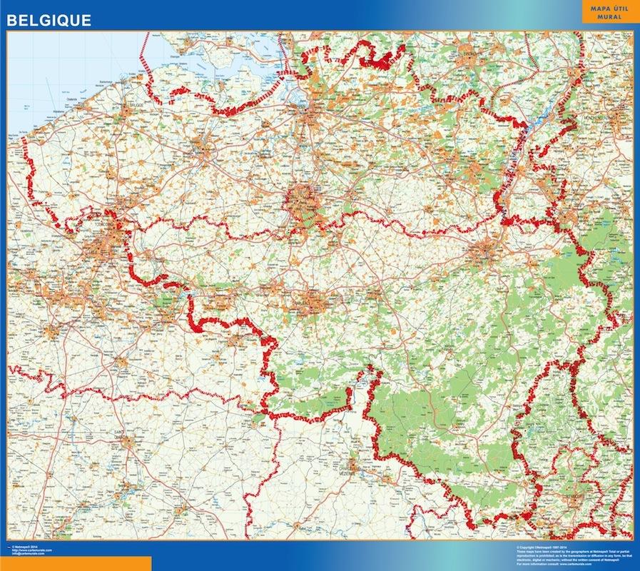 carte routiere belgique