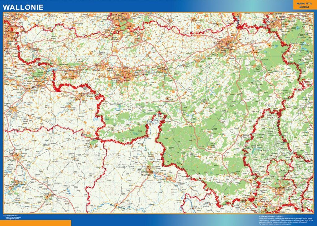 Carte Wallonie